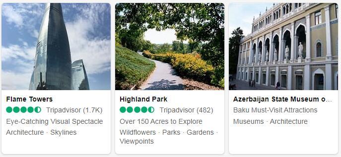 Azerbaijan Baku Tourist Attractions 2
