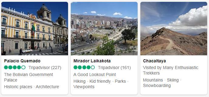 Bolivia La Paz Tourist Attractions 2