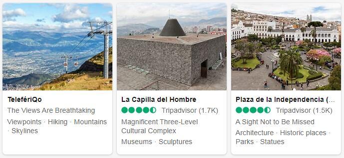 Ecuador Quito Tourist Attractions 2