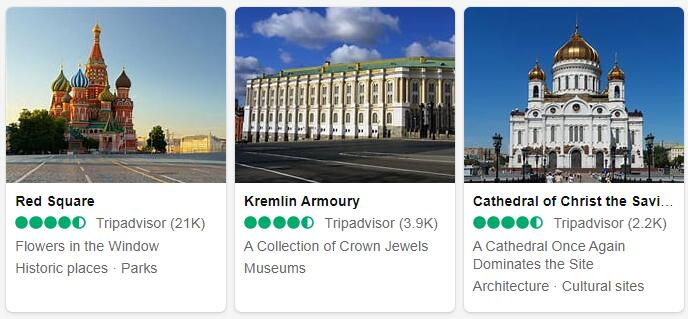 Russia Moscow Tourist Attractions 2