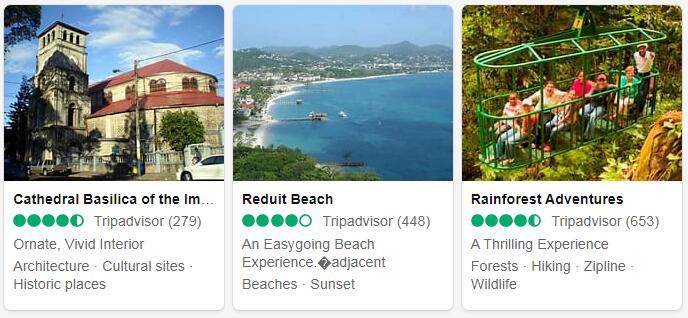 Saint Lucia Castries Tourist Attractions 2