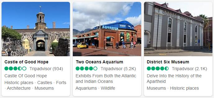 South Africa Cape Town Tourist Attractions 2